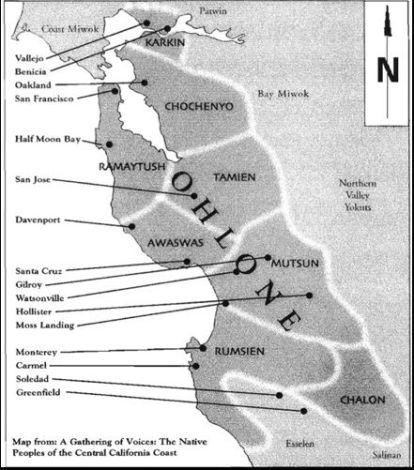 MUWEKMA OHLONE MAP